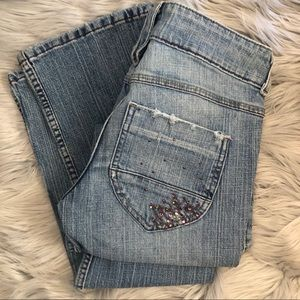 LEI Light Wash Bootcut Jeans Size 3 Juniors